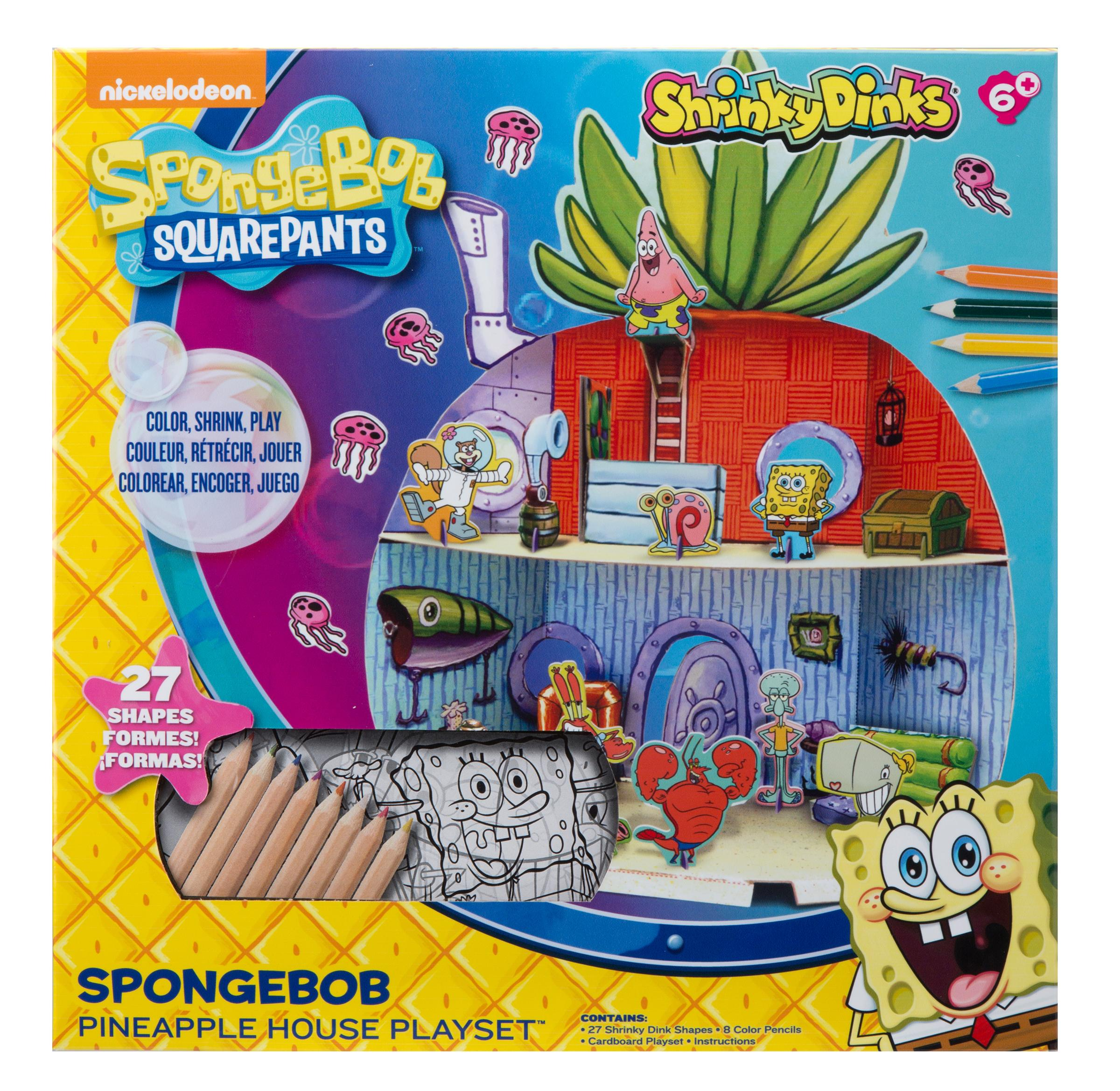 Best Spongebob Toys For Kids : Amazon spongebob shrinky dinks pineapple house