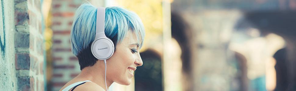 Panasonic RP-HF100M On-Ear Headphones with Mic + Controller