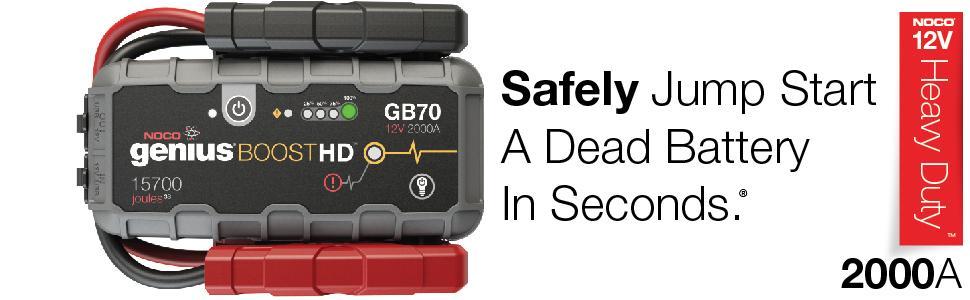 noco, gb70, 2000 amp, safe jump starter, lithium
