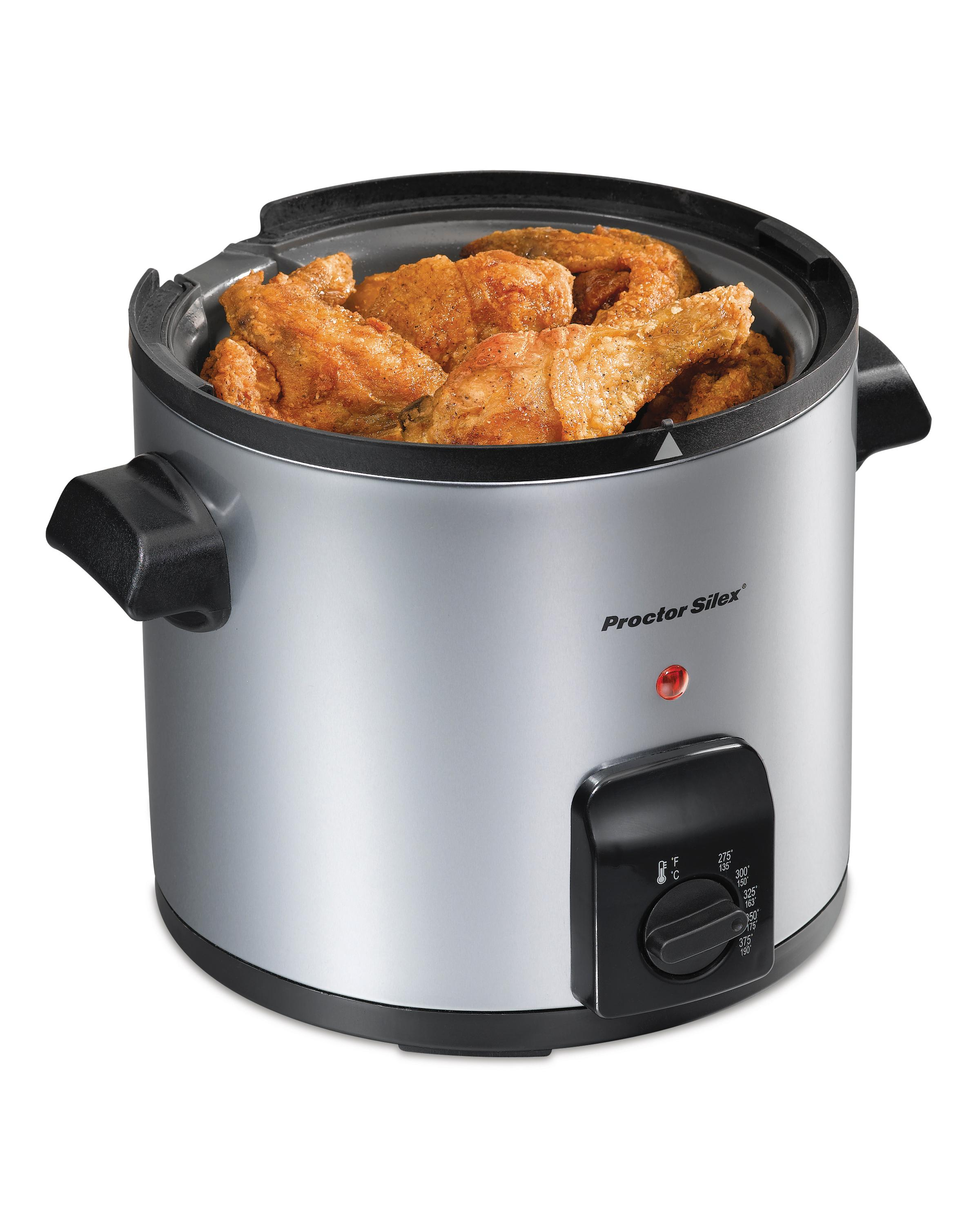 Electric Deep Fryer : Amazon proctor silex electric deep fryer liter oil