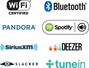 bluetooth, wifi, pandora, spotify, internet, radio
