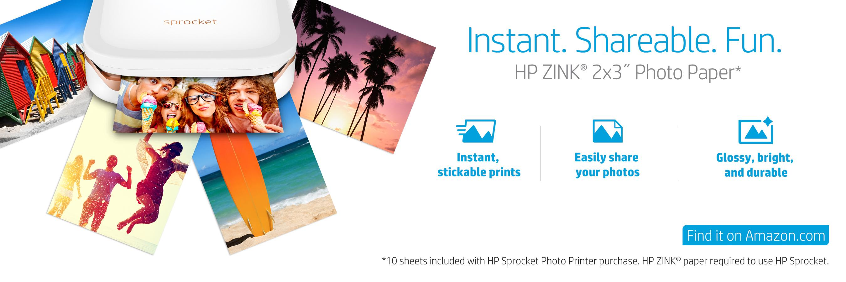 hp sprocket photo printer how to use