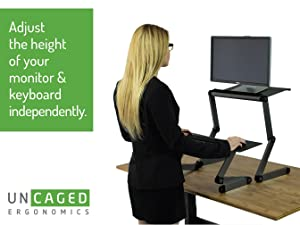affordable ergonomic adjustable height and angle stand up desk converter