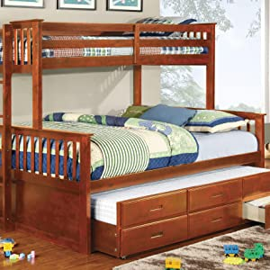 Amazon Com Furniture Of America Pammy Twin Over Queen