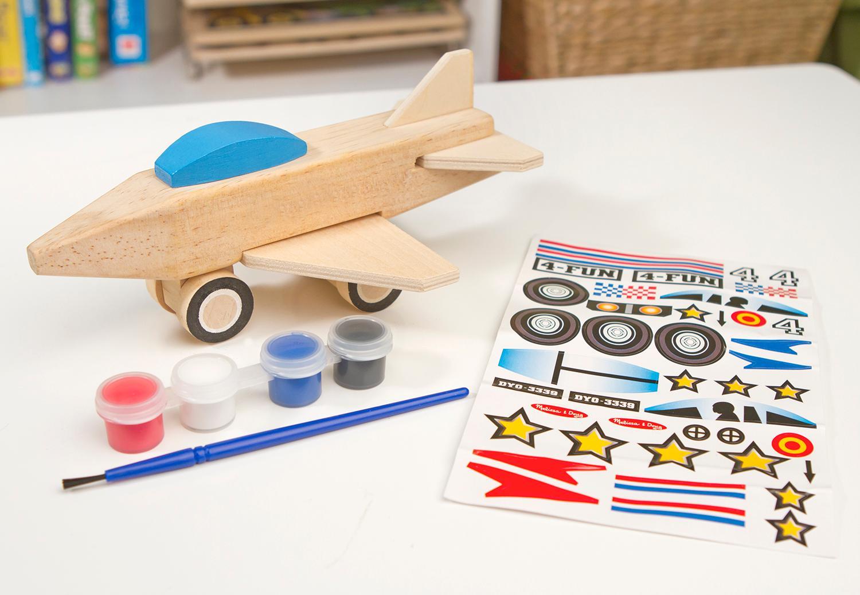 amazon com melissa u0026 doug decorate your own wooden jet plane