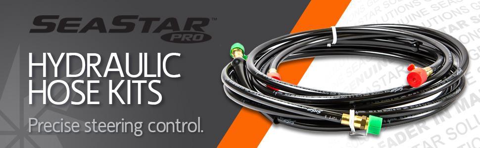 Seastar PRO HO57xx Kevlar Reinforced Hydraulic Steering Hose Kit