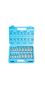 32 Piece Metric/Inches Hex Bit Set