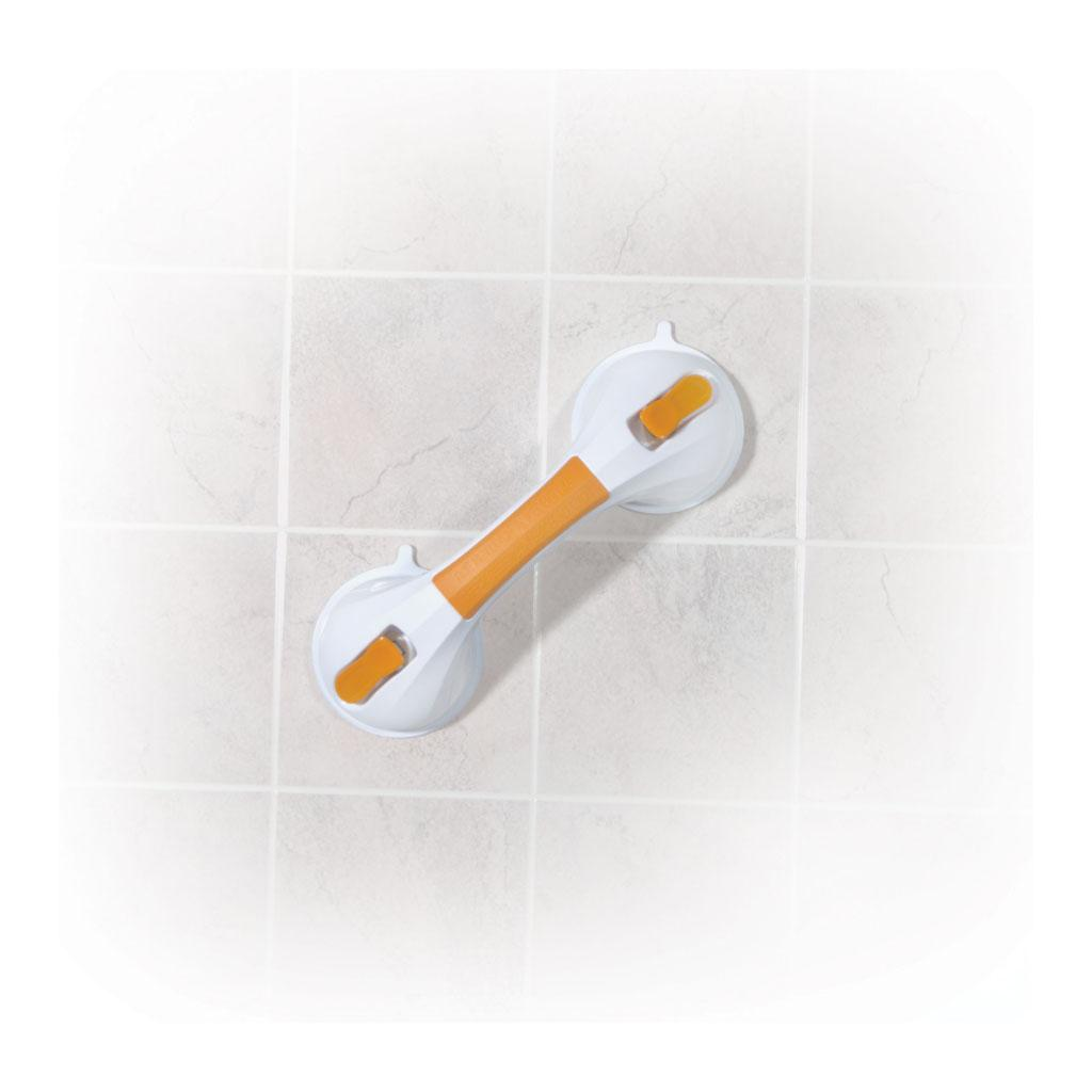 Amazon.com: Drive Medical Suction Cup Grab Bar, White/Orange ...