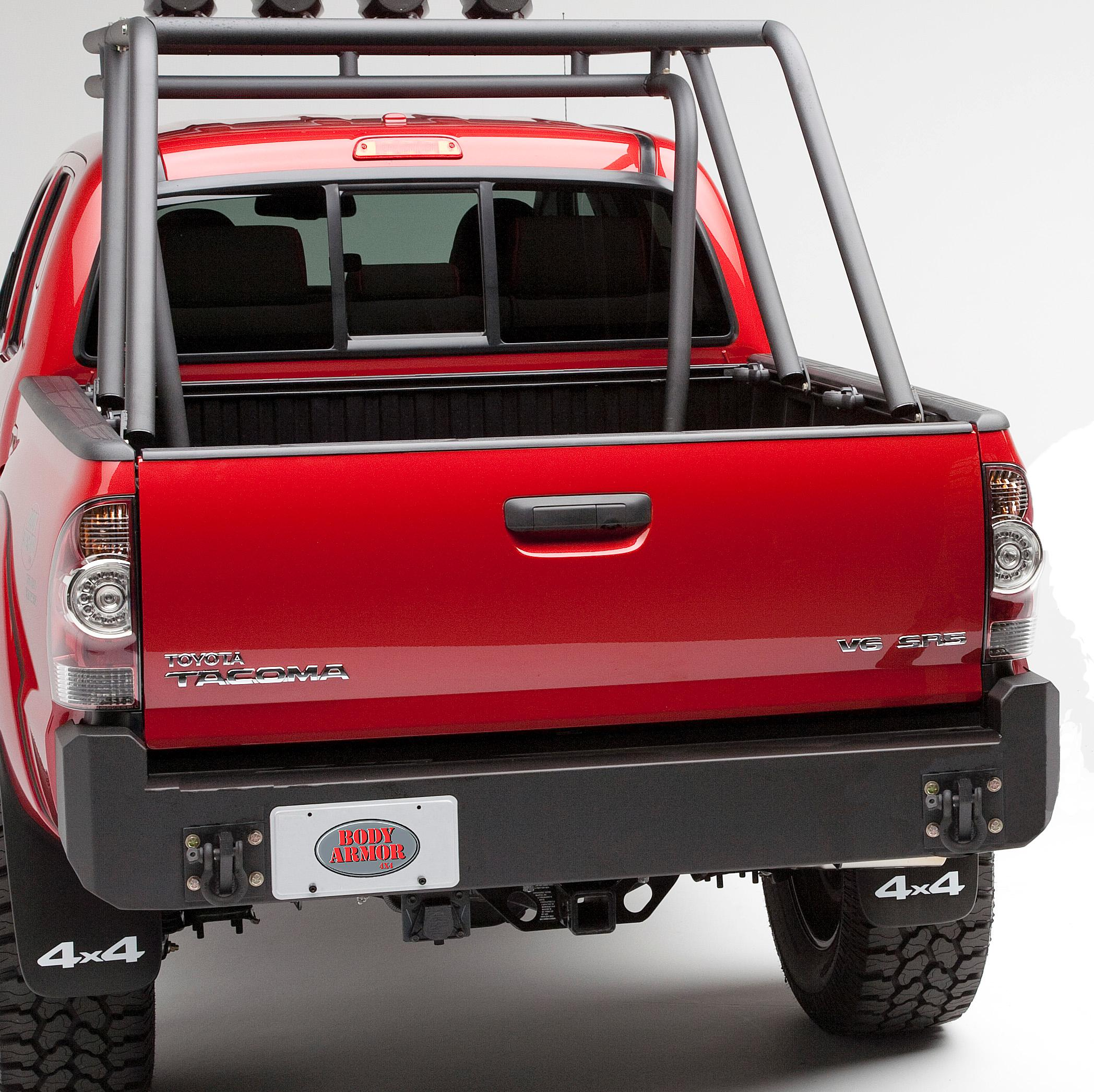 Black Body Armor 4x4 TC-5293 Steel Swing Arm Tire Carrier For TC-2961-2005-2013 Toyota Tacoma