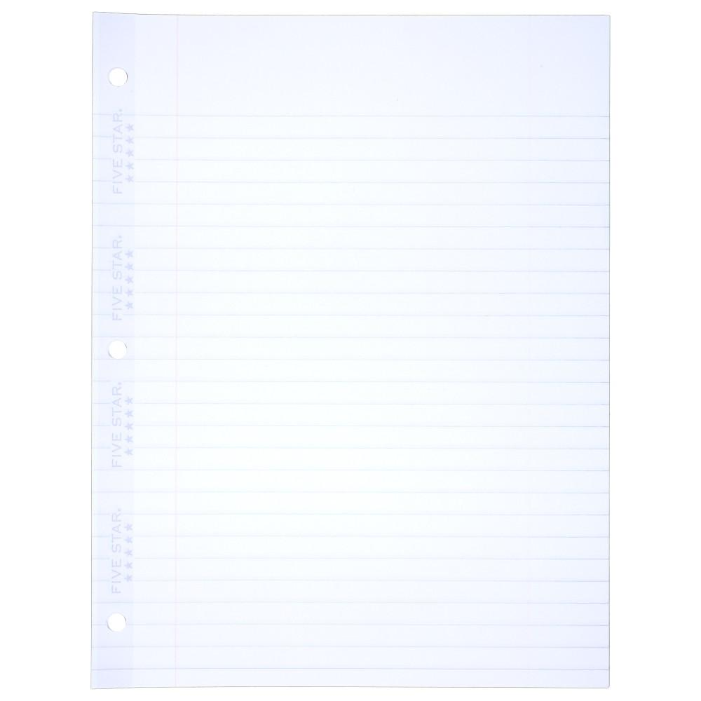 Amazon Five Star Filler Paper Wide Ruled Paper 110 Sheets – Print College Ruled Paper