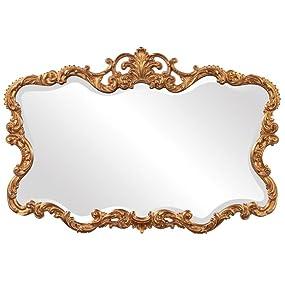 Howard Elliott Talida Mirror with Gold Finish
