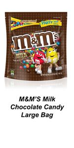 Bring M&M'S Candy to the party in large candy bags to keep guests satisfied.