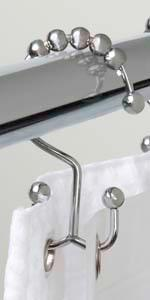 Double Glide Hooks, Roller Rings, Separates Curtain and Liner