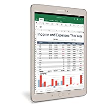 The Samsung Galaxy Tab S2 with Microsoft Office Tools