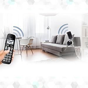 panasonic kx tge433b cordless phone with answering machine 3 handsets