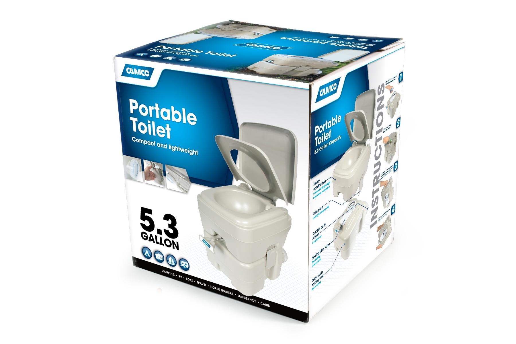 From the manufacturer  sc 1 st  Amazon.com & Amazon.com: Camco Standard Portable Travel Toilet Designed for ...