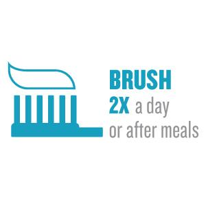 Brush 2x a day or after meals