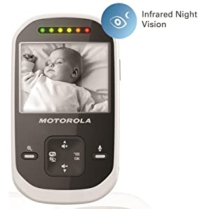 Motorola MBP25-2 Wireless Video Baby Monitor LCD Color Screen and Two Cameras, 2.4 Inch