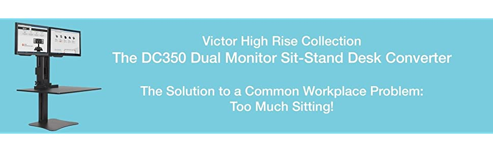 Amazon Com Victor Dc350 High Rise Collection Dual Monitor