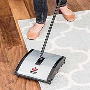 Amazon Bissell Natural Sweep Carpet And Floor Sweeper With Dual