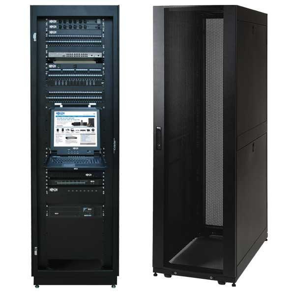 amazon com tripp lite 42u standard depth server rack enclosure rh amazon com tripp lite wall mount rack enclosure server cabinet 12u rack enclosure server cabinet