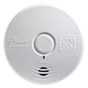 kidde p3010l worry free living area photoelectric smoke alarm with 10 year se. Black Bedroom Furniture Sets. Home Design Ideas