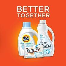 Tide Free and Gentle Liquid Laundry Detergent, bundle