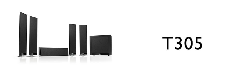 amazon com kef t305 home theater system electronics rh amazon com