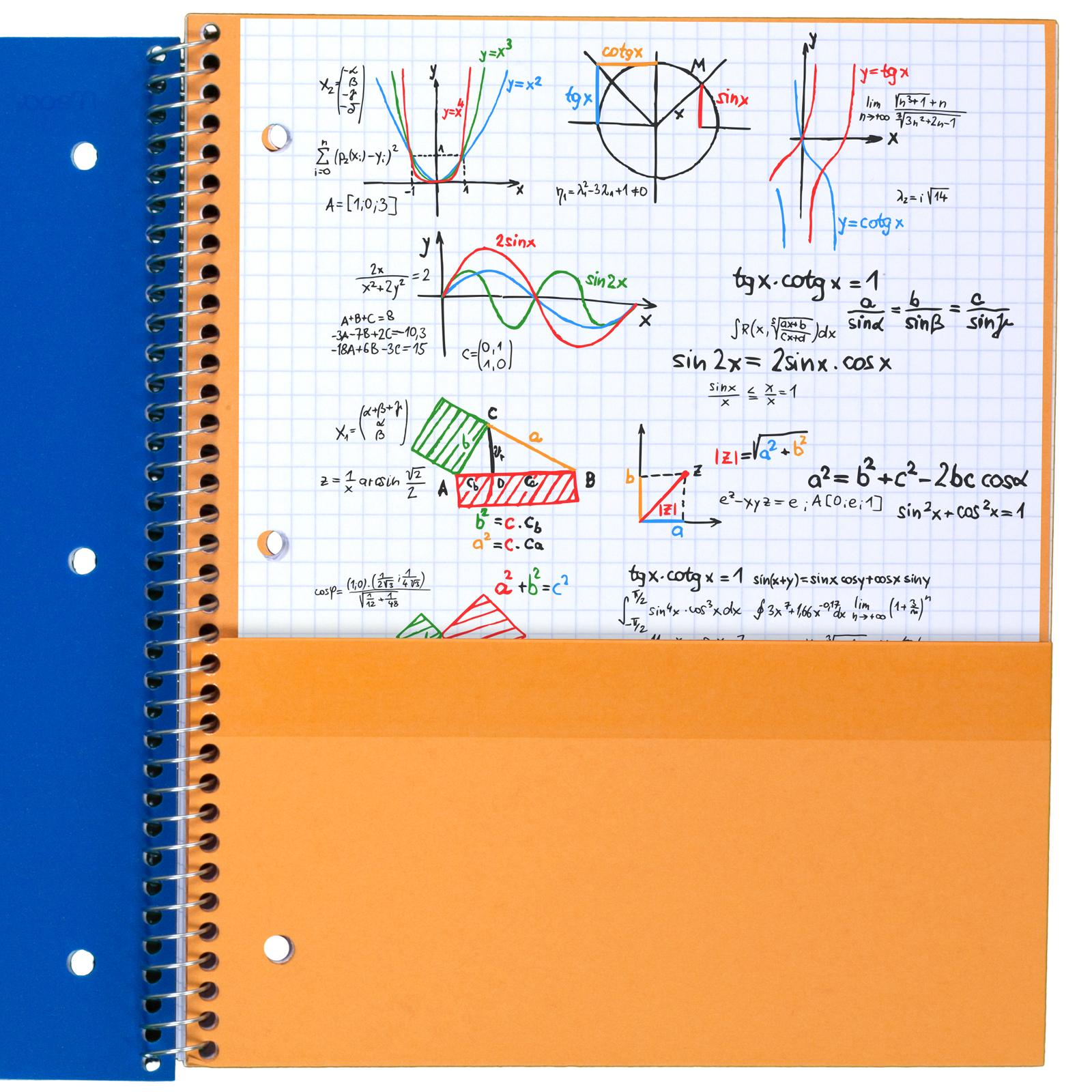 amazon com   five star spiral notebook  1 subject  graph