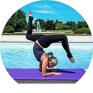ProSource cheap exercise mat, natural fitness yoga mat, foam fitness mat, thick yoga mat,