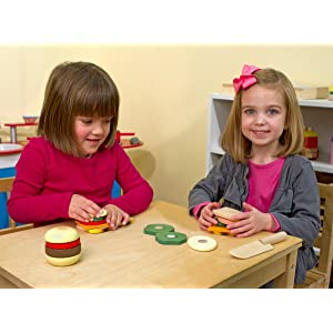 Melissa doug wooden sandwich making set for Kitchen set for 5 year old
