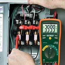 Extech, EX430, true RMS, multimeter, advanced measurements, measurements, convenient