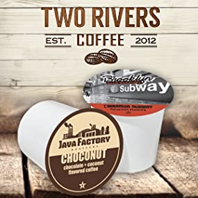 k cups, flavored coffee variety