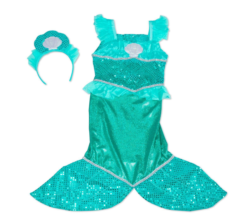 amazon com melissa u0026 doug mermaid role play costume set gown