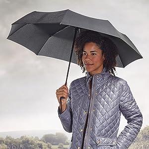 AmazonBasics Compact Automatic Travel Umbrella