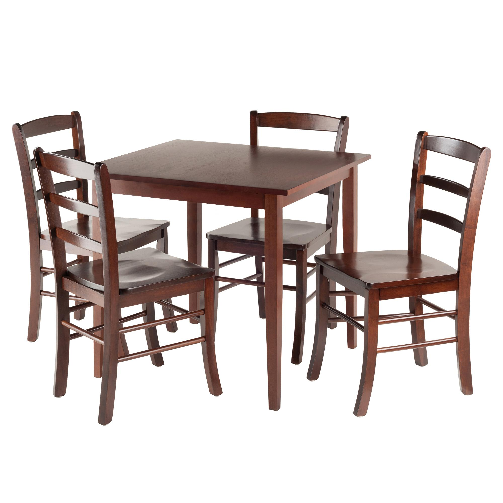 Amazon.com - Winsome Groveland Square Dining Table with 4 chairs, 5 ...