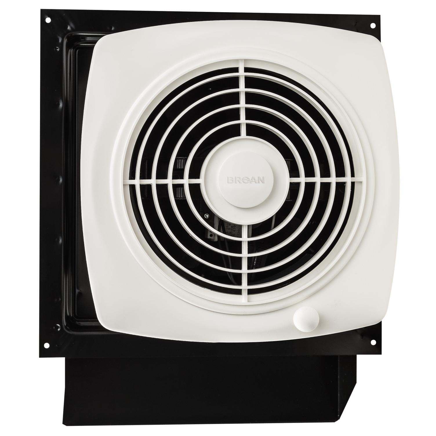 Through Wall Fan : Broan s through wall fan with integral rotary switch