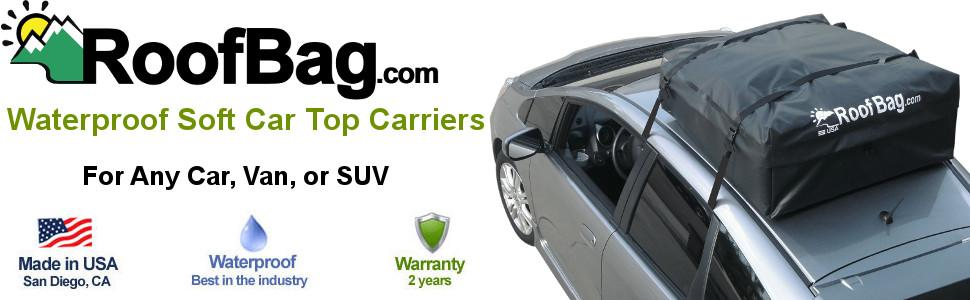 Waterproof Soft Car Top Carriers For Any Car, Van, Or SUV With Or Without A  Roof Rack, Side Rails, Or Cross Bars.