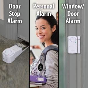 SABRE Dorm Apartment Security Alarm Kit - Includes Wedge Door Stop ...