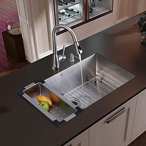 Industrial Kitchen Faucet,kitchen Faucet With Sprayer,kitchen Sink Bottom  Grid,kitchen Sink