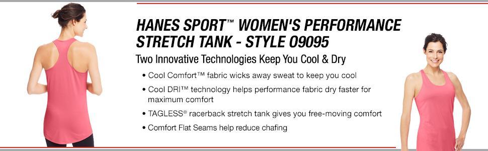 ff6f64c3da786 Hanes Sport Women s Performance Stretch Tank at Amazon Women s ...