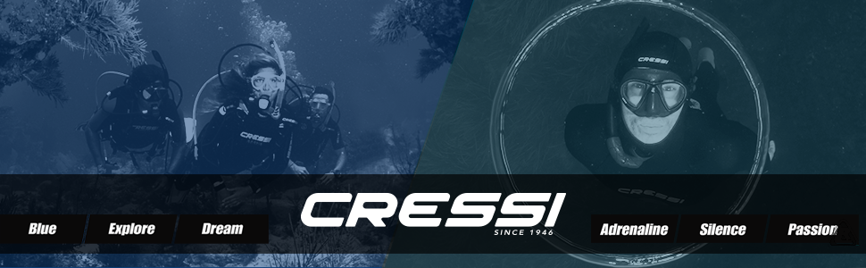 Cressi Borg, Long Blade Diving and Spearfishing Knife