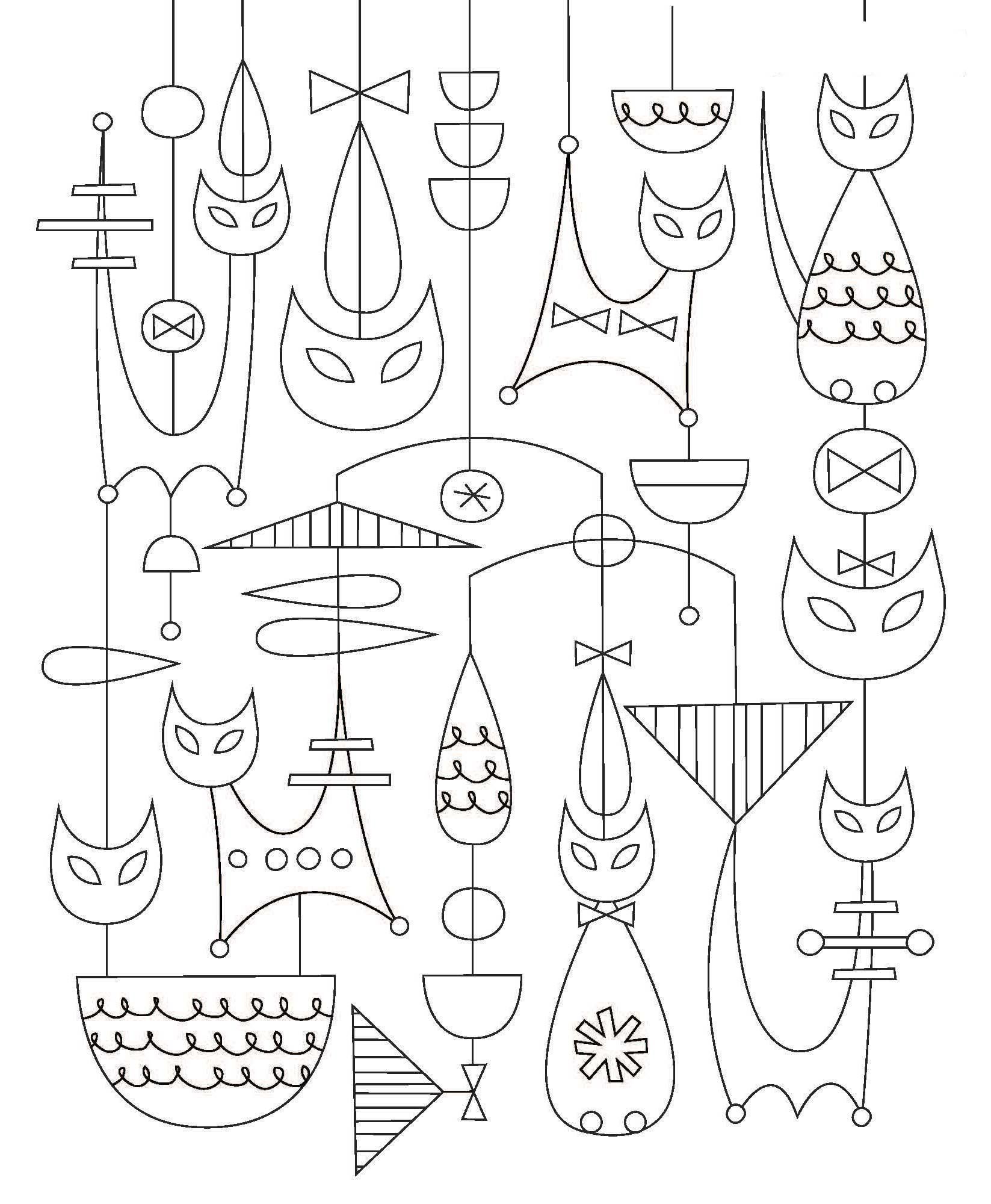 Amazon.com: Just Add Color: Mid-Century Modern Animals: 30 ...