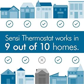 emerson sensi wi fi thermostat 1f86u 42wf for smart home view larger