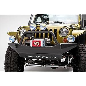 Body Armor 4x4 JK-19531 Black Steel Front Winch Bumper for 2007-2013 Jeep JK