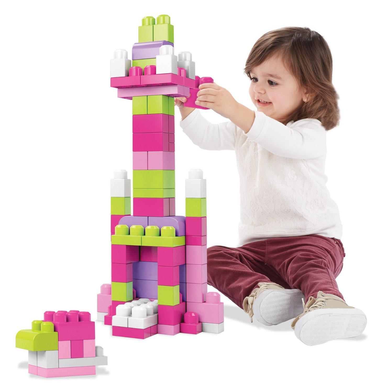Kids Building Blocks Mega Blocks 60 Pieces Childrens Imaginative Play Boys Girls