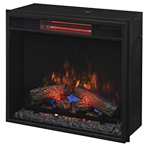"ClassicFlame 23II310GRA 23"" Infrared Quartz Fireplace Insert with Safer Plug"