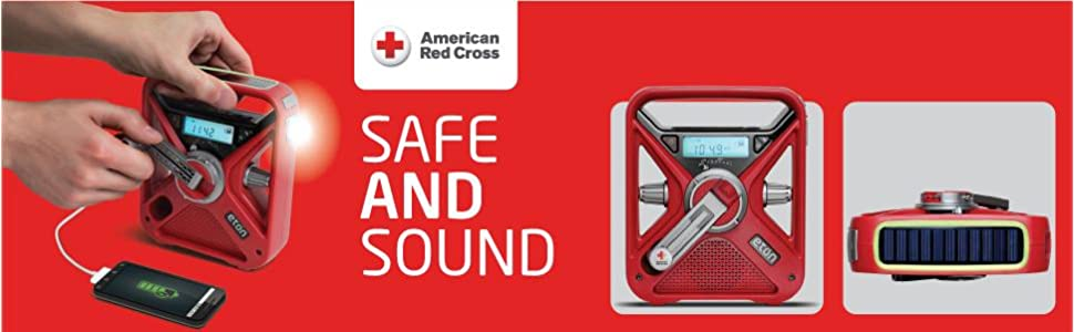 Amazon Com American Red Cross Frx3 Hand Crank Noaa Am Fm