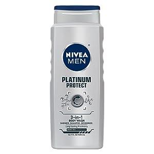shower gel silver protect nivea men