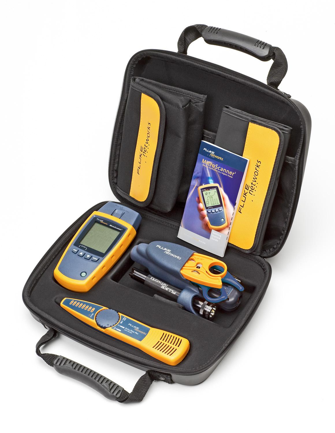 Fluke Networks MS2-TTK MicroScanner2 Network Cable Tester Kit with